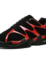 Da uomo-Sneakers-Sportivo-Comoda-Piatto-PU (Poliuretano)-Nero Rosso Bianco