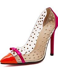 Черный / Красный / Белый - Женская обувь - На каждый день - ПВХ - На шпильке - На каблуках - Обувь на каблуках