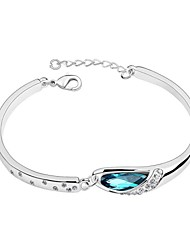 Women's Silver Plated Crystal Bracelet