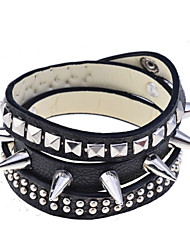 Punk Style Pu Leather Rivet Spikes Bracelet