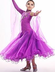 Roupa ( Fúcsia / Roxo / Amarelo , Elastano , Dança Moderna ) - de Dança Moderna - Crianças