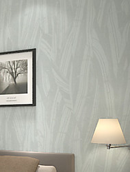 New Rainbow™Trees/Leaves Wallpaper Contemporary Wall Covering , PVC/Vinyl Modern and Simple Stripe Thin Leaves