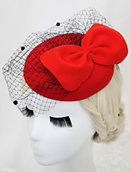 Women's / Flower Girl's Velvet / Net Headpiece - Wedding / Special Occasion Birdcage Veils 1 Piece