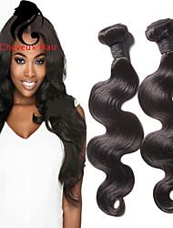4bundles color natural de la onda cuerpo pelo peruano 8-26inch cabello humano virginal teje