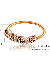 Elastic Golden Bracelet & Bangle  with Charm Beads Pendants