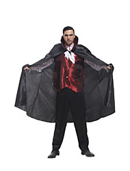 Polyester Men's Vampire Cosplay Costume Halloween Costume For Men (Top+Pant+Cloak)for Carnival