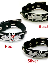 Attack on Titan Cosplay Black / Red / Silver Alloy / PU Leather More Accessories