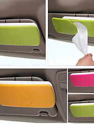 support de papier pour la boîte de tissu de pare-soleil de voiture avec porte-accessoires automobiles clip