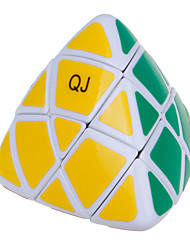 Qiji® Smooth Speed Cube Pyramorphix Speed Magic Cube Black / White Plastic