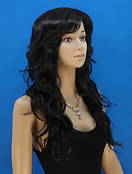 Europe And The United States  New Long Curly Black Hair Ms Wig