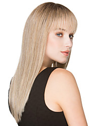 New Fashion Beautiful Girl Blonde Color Long Straight Synthetic Wig
