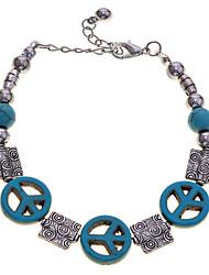Vintage Style Turqoise Anti-War Peace Beads Bracelet