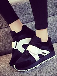 Women's Shoes Color Blocking Flange Suede Increased Within Low Heel Comfort Fashion Sneakers Outdoor / Athletic