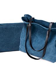 Синий / Серый / Черный - Сумка на плечо - Для женщин - Полотно - Конверт