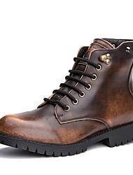 Men's Shoes Wedding / Outdoor / Casual Leather Boots Black / Brown / Gray
