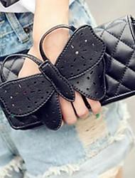 Women PU Baguette Shoulder Bag / Clutch - Black