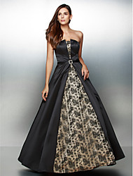 TS Couture® Formal Evening Dress A-line Strapless Ankle-length Lace / Satin with Lace