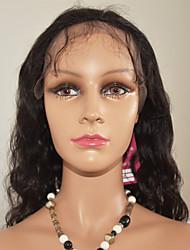 """nouvelle mode 10 """"-24"""" avant de lacet perruques suisses cheveux remy vierge naturelle vague lâche les cheveux vierge non traitée brésilien"""