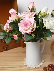 6 PCS Simulation Rose(3 Head/Branch) Artificial Flower