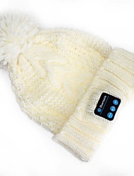 cálido sombrero de la gorrita tejida tapas música auricular bluetooth inalámbrico auriculares con micrófono altavoz para el teléfono móvil