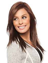 Capless High Quality Synthetic Medium Length Brown Color Wig