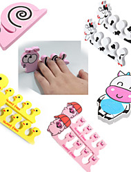 1 Pair Lovely Nail Art Soft Finger Toe Separator Cartoon Pattern Pedicure Manicure Tools 5 Style To Choose