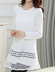 Women's Plus Size Long Sleeve Lace Shirt