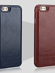 iPhone 7 Plus The New Luxury Leather Back and Metal Frame Phone Case for iPhone 6/6S