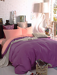 cubierta fundas bedsheet edredón de dos tonos (púrpura + rosa)
