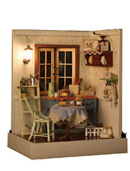 Creative Gifts Diy Craft Gift Of Birthday Hut Model DIY Wood Dollhouse Including All Furniture Lights Lamp LED