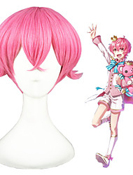 12inch Short Pink The kingdom of Sleeping and 100 princes-Scinata Synthetic Anime Cosplay Wig CS-273A