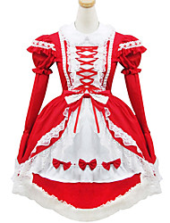 Black and Red Polyester Maid Costume Type11