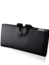 Men Cowhide Formal / Casual / Office & Career / Shopping Wallet / Card & ID Holder - Black