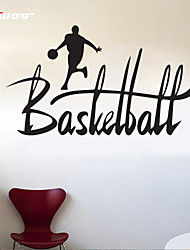 AWOO®  A Man Play Basketball  Wall Stickers Home Decor  Vinyl Stickers For Kids Room Decoration 4019M