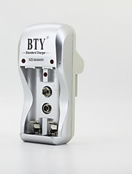 BTY-812 Battery Charger for AA AAA 9V Ni-MH Ni-Cd Battery Silver