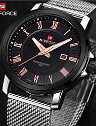 Мужской Наручные часы Календарь Кварцевый Нержавеющая сталь Группа Серебристый металл