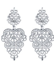 European Style Gold Plated Hollow Flower Drop Earring(Assorted Color)