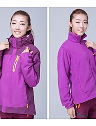 Women Outdoor Sports  Soft Shell Jacket Ski /Climbing Jacket Polar Fleece Jacket with Zipper (2Piece= Shell + Liner)