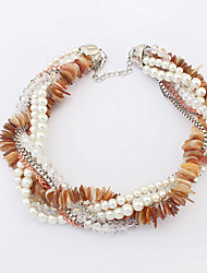 European Style Fashion Piece Shell Pearl Necklace