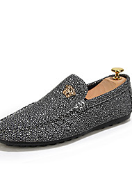 Men's Shoes Casual  Loafers Black / White / Gold