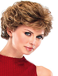 Blonde Curly Top Quality Short Wig For Woman
