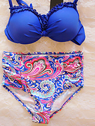 Women's Vintage High Waist New Style Bohemian Brazilian Padded Swimwear
