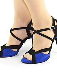 Chaussures de danse ( Autre ) - Personnalisable - Talon aiguille - Suédé - Danse latine