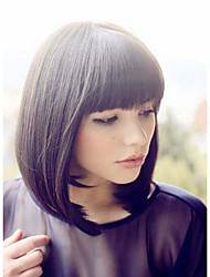 Soft Charming Bob Hairstyle Human Virgin Remy Hand Tied-Top Straight Capless Hair Wigs