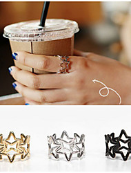 Hollow Star Shape Adjustable Ring Set Midi Rings(1pcs)