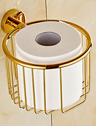 Gold Bathroom Accessories Brass Material Toilet Paper Holder