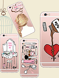 For iPhone 5 Case Transparent / Pattern Case Back Cover Case Cartoon Soft TPU iPhone 7 Plus / iPhone 7 / iPhone SE/5s/5