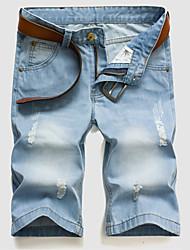 Men's light color denim shorts in summer Leisure fashion straight loose shorts pant , cotton sport Plus Sizes BANT7