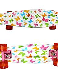 PP Plastic Skateboard (22 Inch) Cruiser Board White  Color