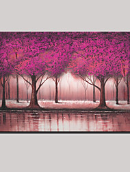 Hand-Painted Abstract Landscape Modern Lovely Tree Oil Painting On Canvas One Panel,Ready to hang 70x130cm